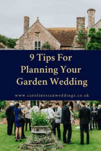 Planning Your Garden Wedding - Wedding Planner Hampshire