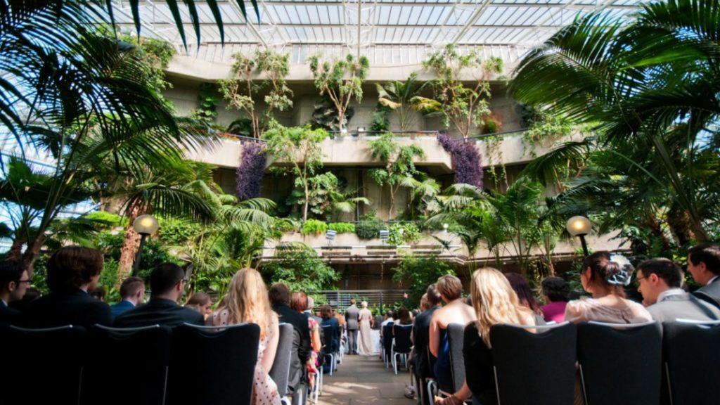 Barbican Conservatory London Wedding Venue